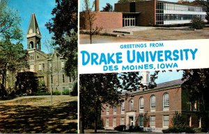 Iowa Des Moines Greetings From Drake University Multi View