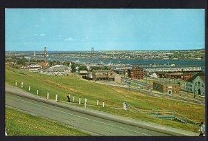 NS View HALIFAX Harbour with the Angus L. MacDonald Bridge - Chrome 1950s-1970s