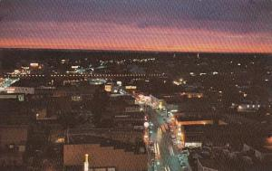 Mississippi Jackson Downtown At Night Looking West Down Amite Street