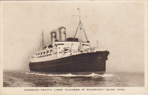 Canadian Pacific Liner S S Duchess Of Richmond