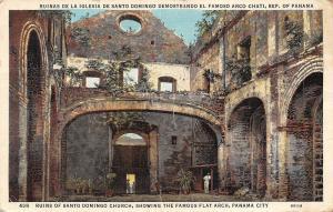 Panama Ruinas de la Iglesia Santo Domingo Demostrando Famoso Arco Chati 1938