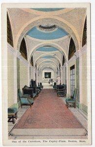 Boston, Mass, One of the Corridors, The Copley - Plaza