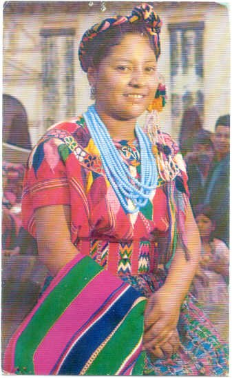 Native Indian Girl, Patzun, Department of Chimaltenango, Guatemala, Chrome