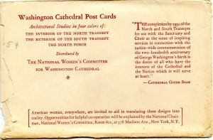 DC - Washington. Washington Cathedral, Color Arch Series (3 Card Set)