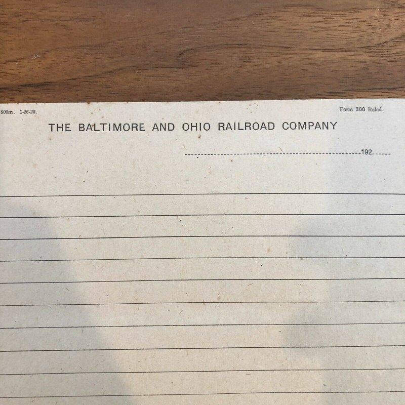 Baltimore & Ohio Railroad Co - Maryland - Vintage Letter Head Rare history
