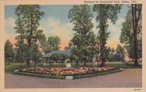 Entrance To Centennial Park Salem Ohio Curteich