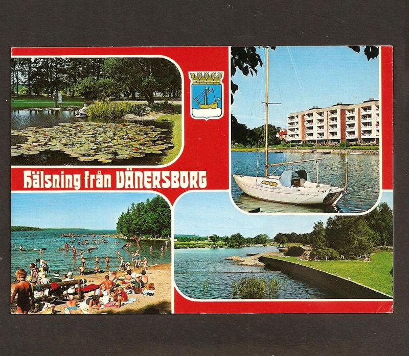 SWEDEN POSTCARD WITH STAMP 1979 VANERSBORG