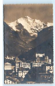 *Interlaken und die Jungfrau Switzerland RPPC Vintage Real Photo Postcard C92