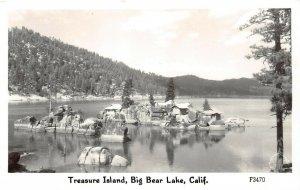 LP20 Big Bear Lake  California Postcard RPPC Treasure Island  Frashers