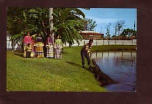 FL Alligators Seminole Indians Aquaglades Everglades Ft Fort Lauderdale Florida