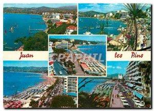 Modern Postcard The French Riviera Juan les Pins General view Beach Walk Sun