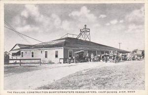Military The Pavilion Construction Quartermasters Headquarters Camp Devens Ay...