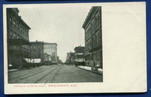 Birmingham Alabama al 2nd Avenue looking East old postcard
