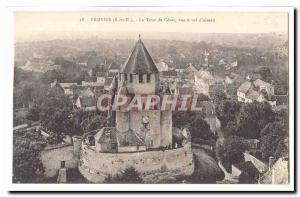 Provins Old Postcard La Tour Cesar view a theft & # 39oiseau