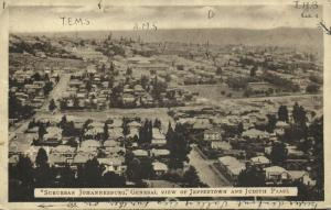 south africa, JOHANNESBURG, Suburban View of Jamestown and Judith Paarl (1920s)