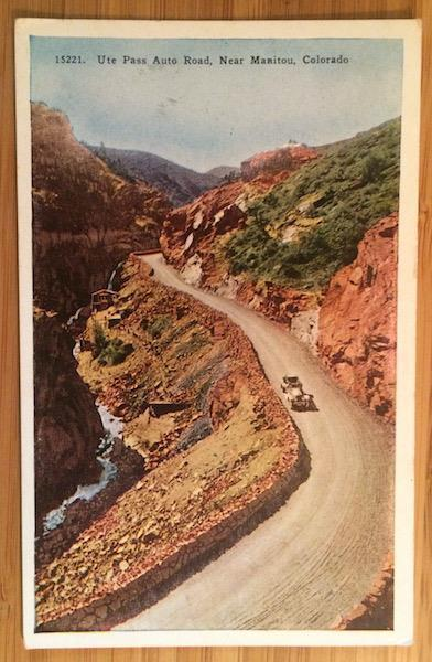 Ute. Pass Auto Road, Near Manitou, Colorado, Van Noy-Interstate Co. 15221