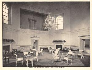 Vintage Bath Postcard, The Assembly Rooms, The Large Octagon, Somerset P55