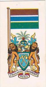 Brooke Bond Tea Trade Card Flags &  Emblems No 21 Gambia