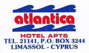 CYPRUS LIMASSOL ATLANTICA BEACH HOTEL VINTAGE LUGGAGE LABEL