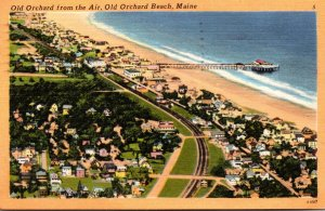 Maine Old Orchard Beach Aerial View 1956