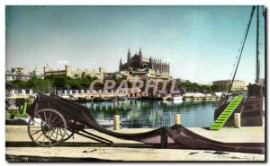 Old Postcard A Palma Mallorca La Catedral the Lonjo desde el Muelle de Pescad...