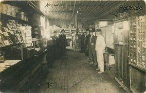 IA, Hornick, Iowa, Store and Post Office, Interior, RPPC