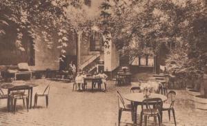 Montreuil Sue Mer L'Hotel Hotel De France Garden Antique Postcard