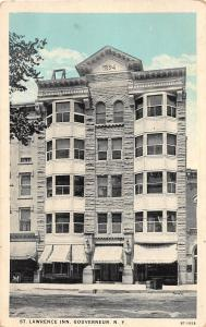 New York NY Postcard c1910 GOUVERNEUR St Lawrence Inn Hotel Building