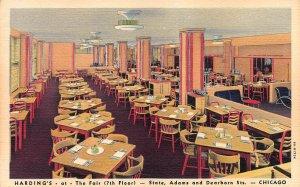 Harding's at the Fair, Chicago, Illinois, Early Linen Postcard, Unused