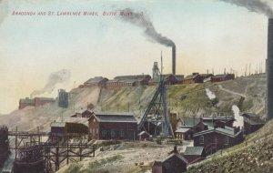 BUTTE, Montana, 1900-10s ; Anaconda & St Lawrence Mines