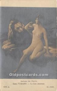 Emile Tabary, Le Lion Amoureux Nude Postcard Salons de Paris Unused