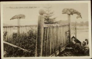 Wrangell AK Totems Chief Shake Grave c1910 Real Photo Postcard