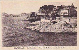 France Marseilles La Corniche Pointe de Malarme et Chateau d'lf