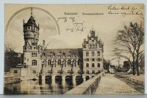 HANNOVER Flusswasserkunst George Alpers Jr. Photo c1900 Germany Postcard K10