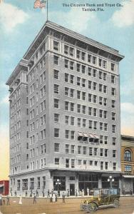 TAMPA, FL  Florida          CITIZENS BANK AND TRUST CO          c1910's Postcard