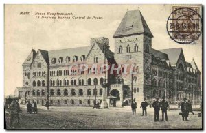 Old Postcard Metz The new central office station