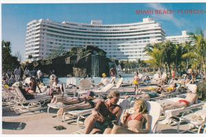 Swimming Poolside at one of MIAMI BEACH'S fabulous hotels, 40-60s