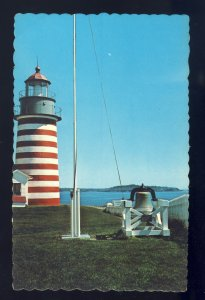 Lubec, Maine/ME Postcard, West Quoddy Head Light/Lighthouse