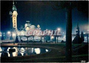 Modern Postcard Limoges Haute Vienne La Station des Benedictins and night Eff...