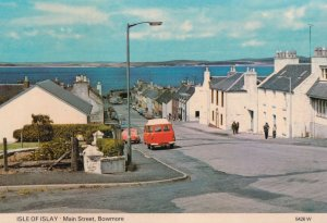 Post Office Van Lorry at Isle Of Islay Main Street Bowmore Postcard