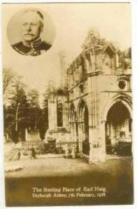 RP Dryburgh Abbey, Scotland, UK, 1928, Resting place of Earl Haig