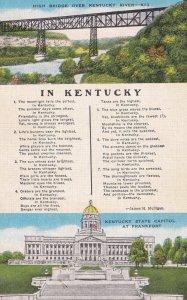 FRANKFORT, Kentucky, 1930-1940s; High Bridge Over Kentucky River, Kentucky St...