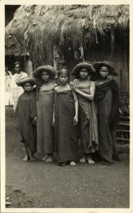 indonesia, SUMATRA, Beautiful Young Native Batak Girls in Costumes (1920s) RPPC