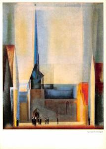 Lyonel Feininger - Church on Halle Market
