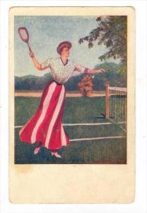 Female playing, TENNIS , PU-1909