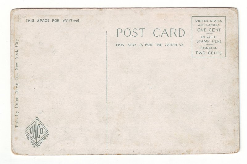 P1445 old unused postcard 3rd street view people etc harrisburg penn.