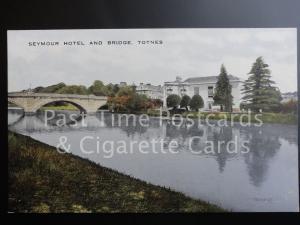 c1911 Devon: Totnes, Seymour Hotel and Bridge