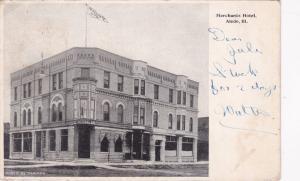 ALEDO, Illinois, PU-1900; Merchants Hotel