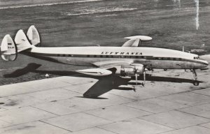 RP: LUFTHANSA Lockheed Super-G Constellation Airplane , 1950s