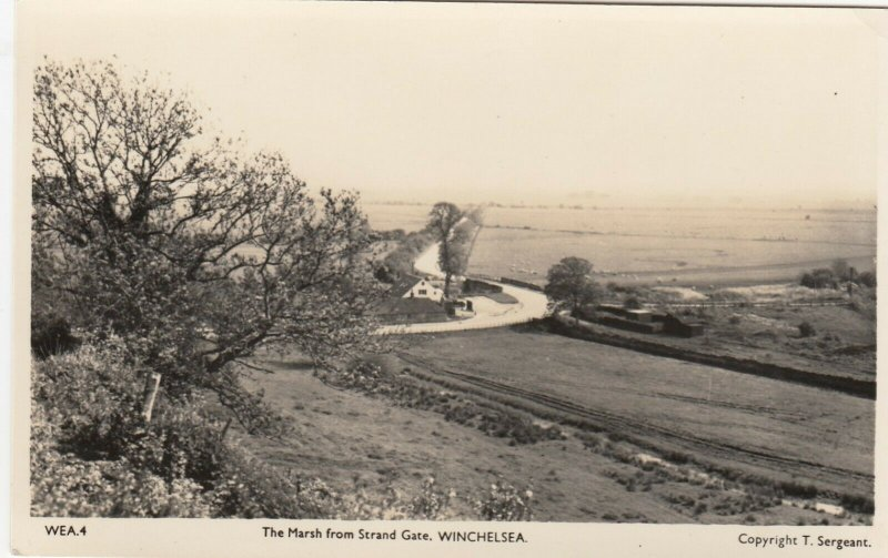 RP: WINCHELSEA , Sussex , England , 1930s ; Marsh from Strand Gate